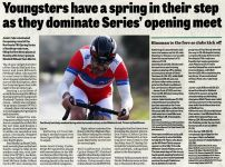Evening Telegraph Cycling Report -  12/03/15