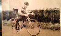 John Crisp, age 15, finishing a 25 mile TT on the Higham course.